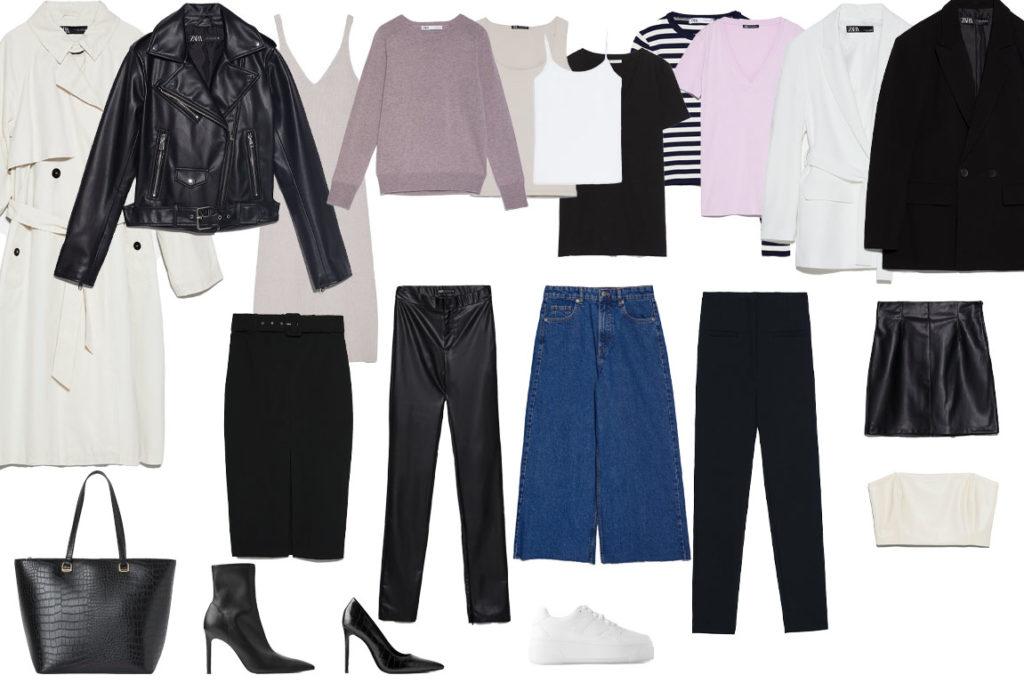 Пример базового гардероба для студентки