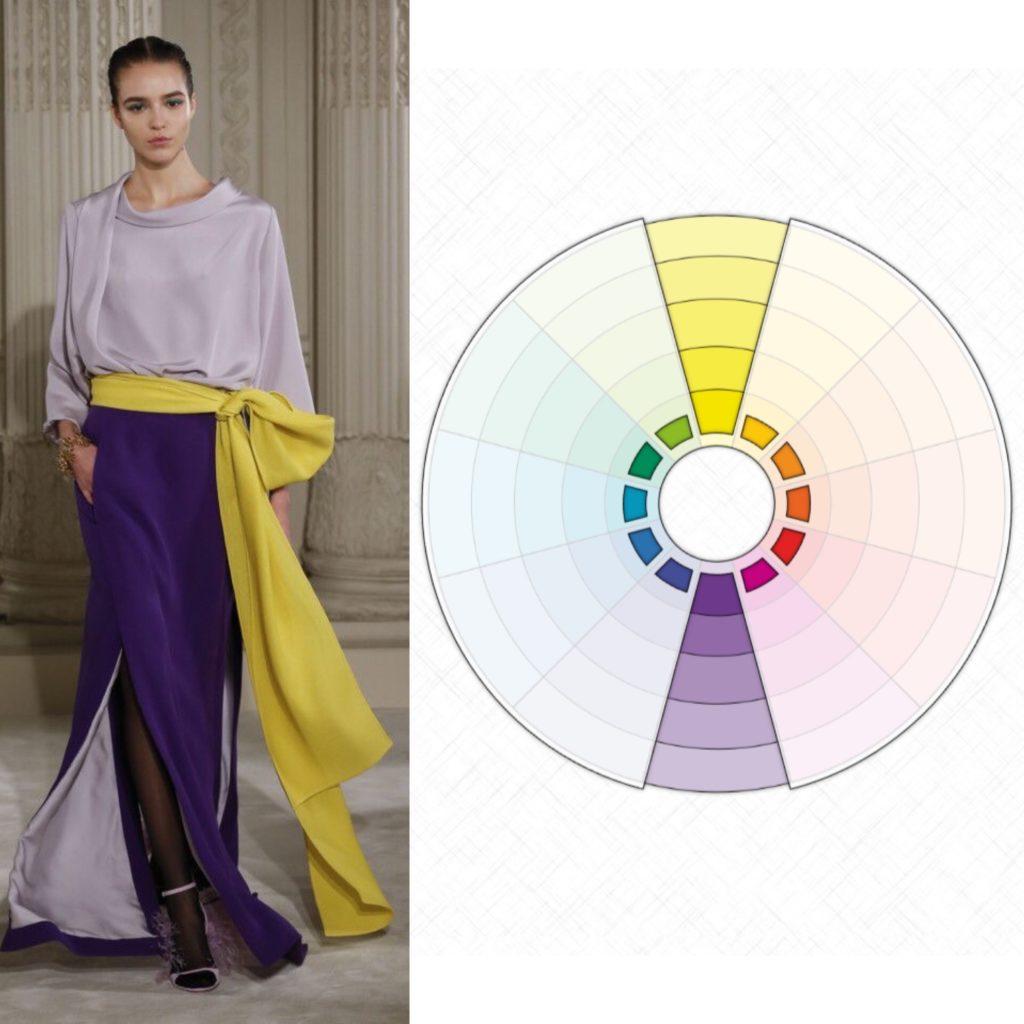 Комплиментарное сочетание цветов в одежде
