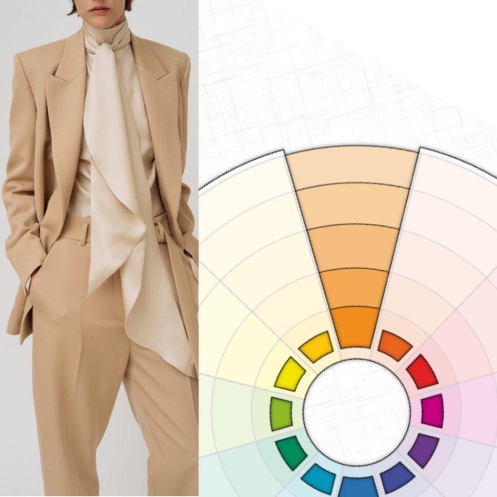 Монохромное сочетание цветов в одежде