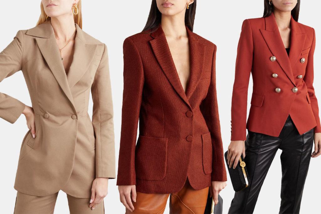 Прилегающие приталенные пиджаки