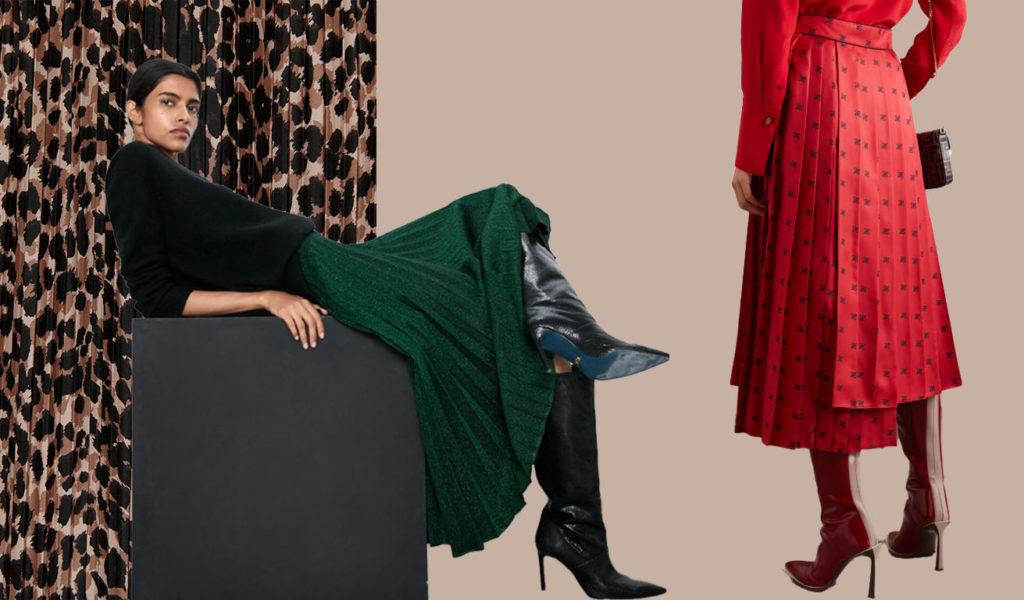 юбка плиссе для драматиков