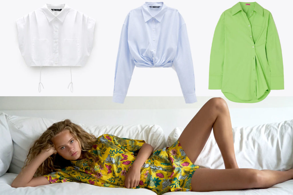 Креативные женские рубашки
