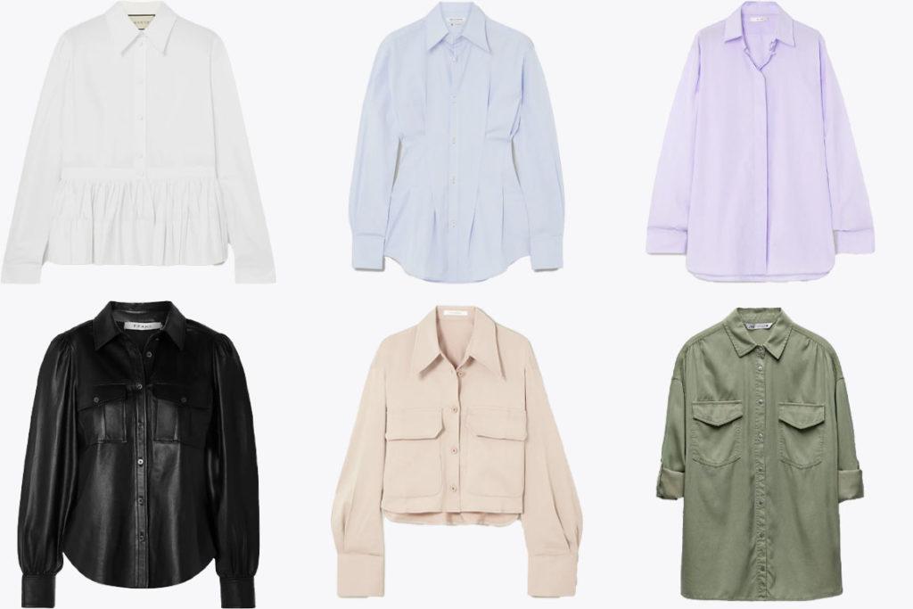 рубашки по стилям