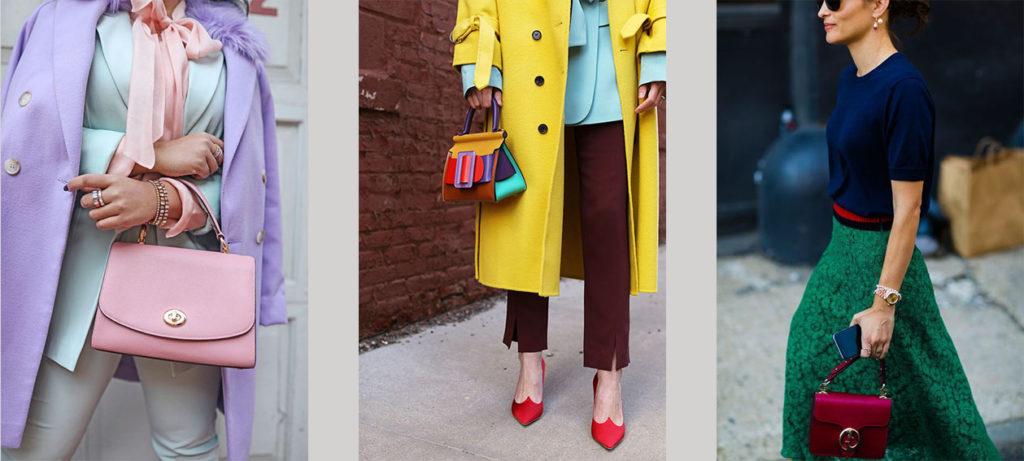 Яркие образы с сумками