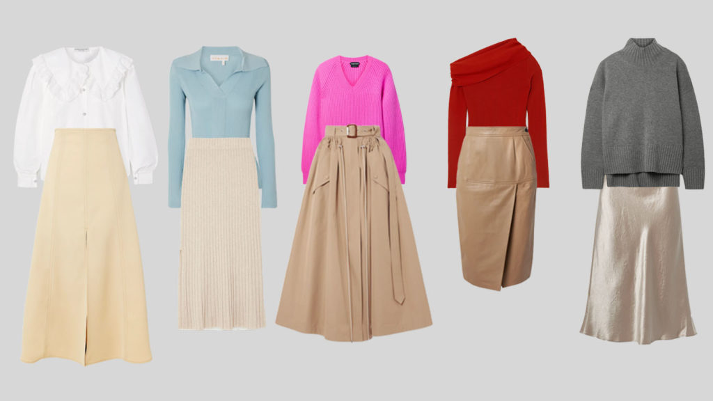 Бежевые юбки миди