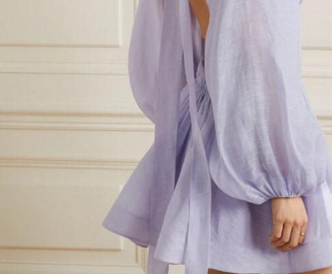 летнее платье лиловое